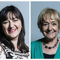Ruth Smeeth (left) and Dame Margaret Hodge (right) have been at the forefront of the community's fight against antisemitism in Labour, and have suffered abuse, including death threats.
