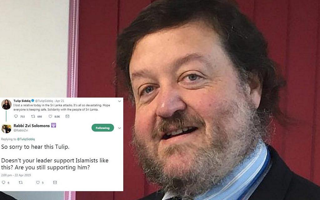 Sri Lanka attacks: Rabbi slams Tulip Siddiq's Corbyn support after relative dies