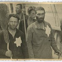 Jewish prisoners in the Warsaw Ghetto. Picture Credit- Muzeum Getta Warszawskiego
