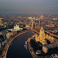 Moscow's skyline (Wikipedia/Deensel)