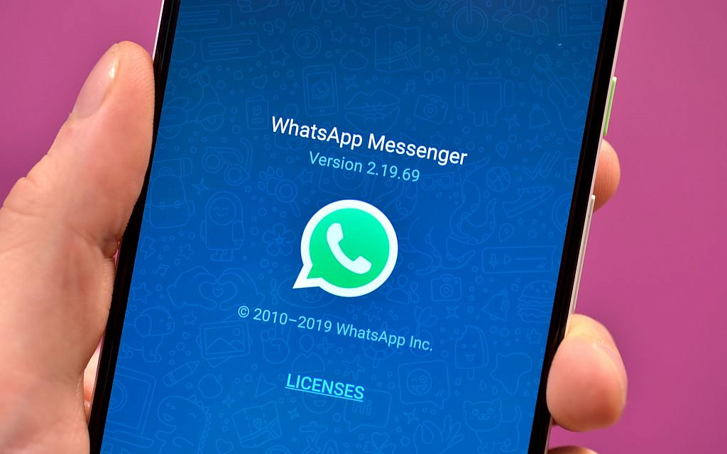 WhatsApp app icon on a smartphone. Photo credit: Nick Ansell/PA Wire