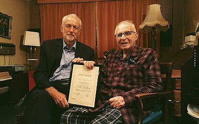 Jeremy Corbyn with Walter Wolfgang