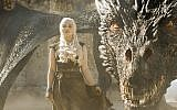 What fate beholds Emilia Clarke as Daenerys with her pet, Drogan in the last ever episode of Game of Thrones?
