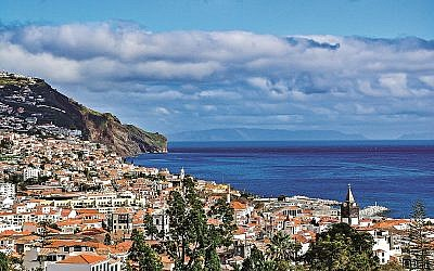 Panoramic view of Funchal, the capital city of Madeira island, Portugal