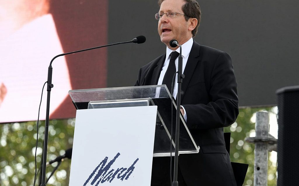 Jewish Agency chair Isaac Herzog at March of the Living