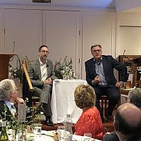 Ed Balls with CNN journalist Richard Greene