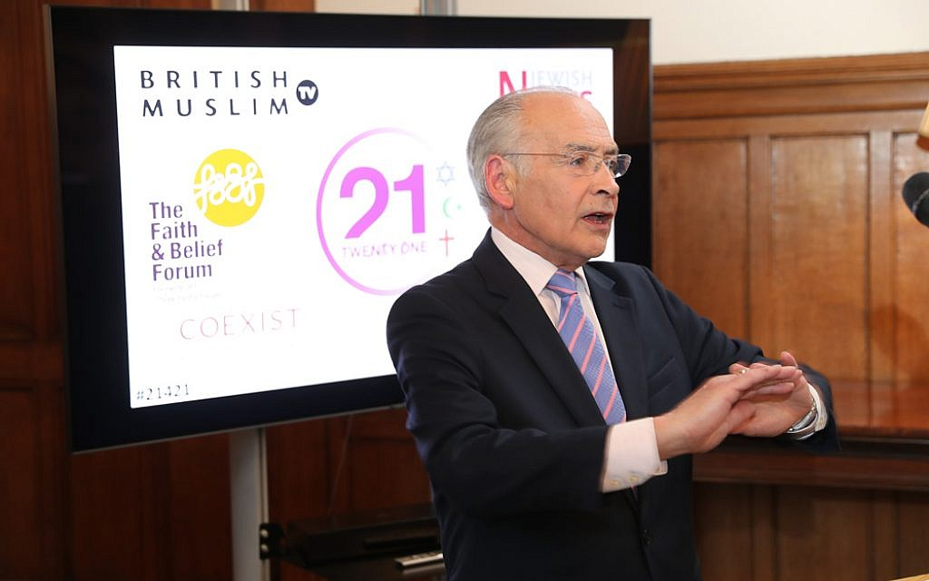 Alastair Stewart at the 21 for 21 Interfaith ceremony (Marc Morris Photography)