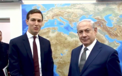 Jared Kushner meeting with Bibi Netanyahu in 2017, in the preliminary stages of the peace plan.