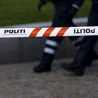 Police line/caution tape placed by Danish police (WPCOM/Heb)