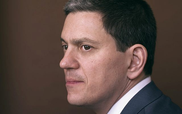 David Miliband. Credit: Jillian Edelstein