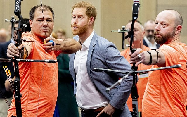 Prince Harry watches sports during the presentation of the Invictus Games  (Photo by ANP Royal Images Pool via Sipa USA)