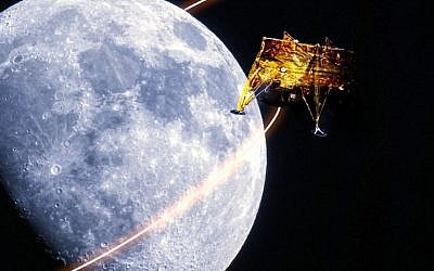 Beresheet! (Credit: SpaceIL and the Israel Aerospace Industries)