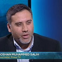 Roshan M Salih took to social media to criticise Alastair Campbell