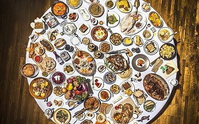 The 100 Most Jewish Foods, which are also  available to view at 100jewishfoods.tabletmag.com Credit: Noah Fecks