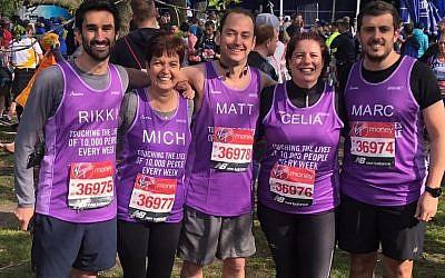Team Jewish Care at the start of the London Marathon 2019!