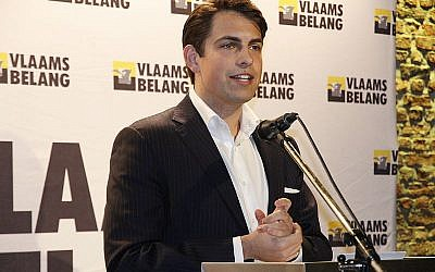 Tom Van Grieken,  leader of Vlaams Belang(Wikipedia. Author:Hans Verreyt. Source: Wikiportret.nl)