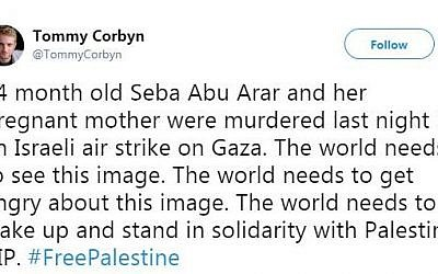Tommy Corbyn's tweet / Twitter