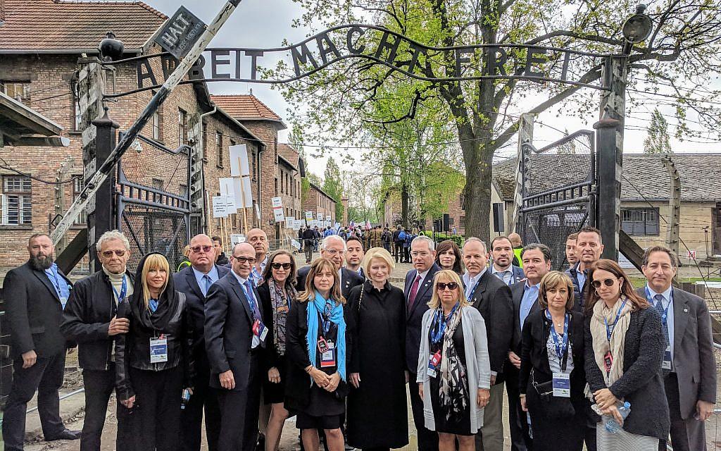 US ambassador delegation at Auschwitz