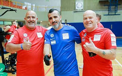 British and Israeli athletes at the Veterans Game in Israel