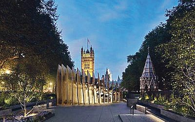 Proposed design of Westminster Holocaust Memorial in Victoria Tower Gardens