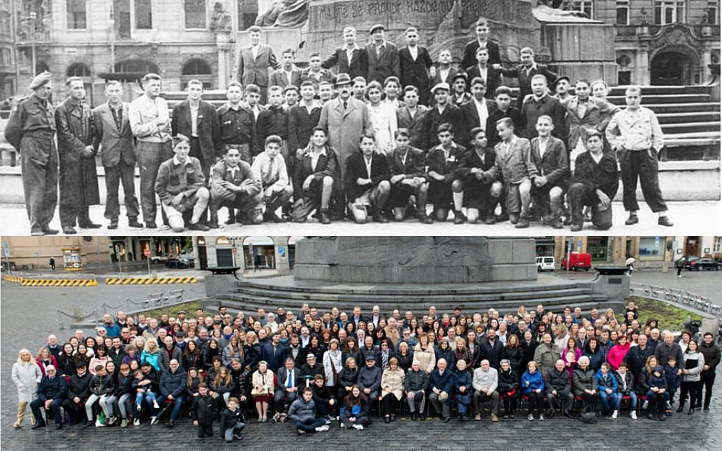 Then and Now: Prague 1945 and 2019.