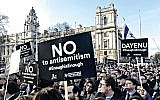 Last year's protest against antisemitism outside Labour HQ in central London