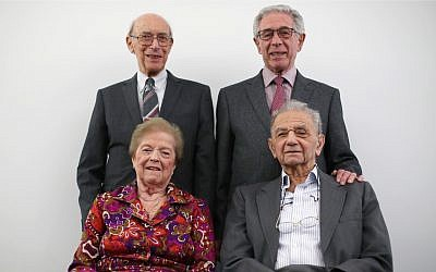 Clockwise, from top row: George Hans Vulkan, Ernest Simon, Walter Kammerling and Ruzena Levy, at the Jewish Museum (Photo credit: Yui Mok/PA Wire)