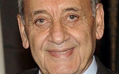 Nabih Berri  (Wikipedia/Flickr_-_europeanpeoplesparty_-_EPP_in_Lebanon_101021_Berri_President_Parlement_HIM1146.jpg: European People's Party)
