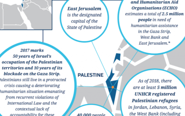 A screenshot from the Immigration New Zealand website uses Palestine instead of Israel on a map. (Immigration New Zealand via JTA)