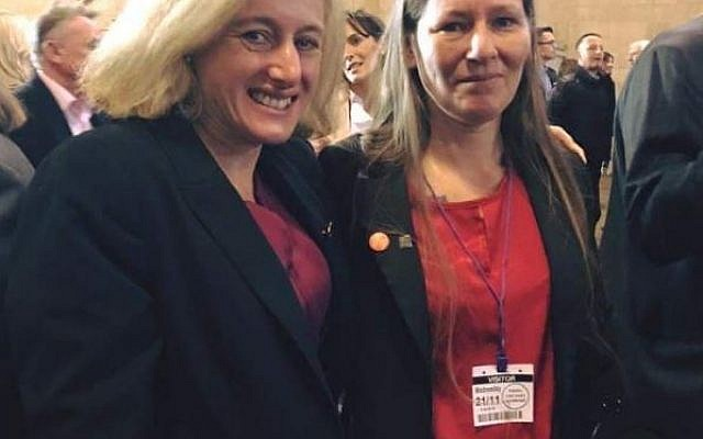 Cllr Rachel Abbotts, with Ruth George, MP for High Peak  (Credit: Twitter)