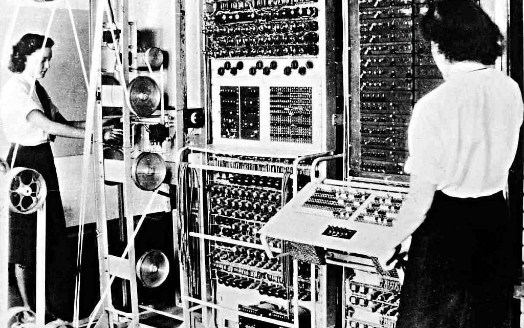 A Colossus Mark 2 codebreaking computer, 1943. (The National Archives (United Kingdom)/Wikipedia)