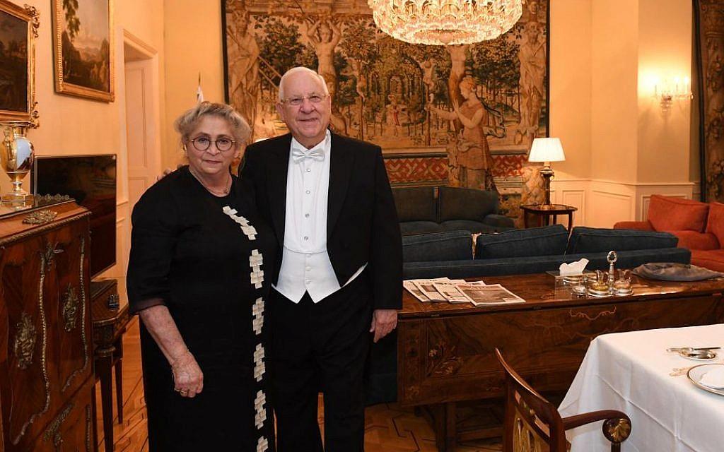 President Ruvi, alongside his late wife Nechama