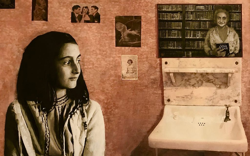 Reflection by Fiona Graham-Mackay imagines Anne Frank gazing from behind a mirror as a 90-year-old, and is set to be auctioned