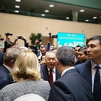 Nursultan Nazarbayev after voting  after voting