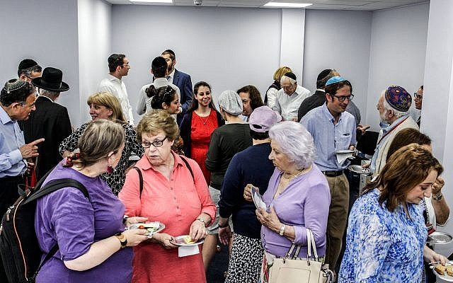 Guests at the new S&P Sephardi Community HQ in Hendon