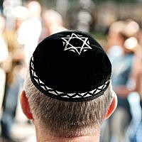Man wearing a kippah in public