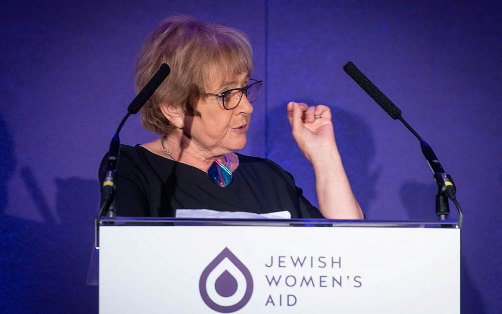 Dame Margaret Hodge, Labour MP for Barking, was the keynote speaker at the inaugural fundraising dinner for Jewish Women's Aid