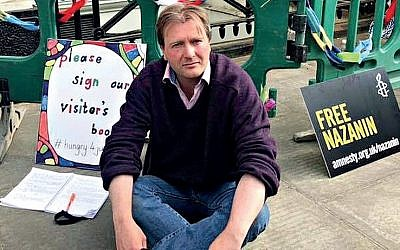 Nazanin Zaghari-Ratcliffe Husband Richard has joined her hunger strike to pressure the Iranian government to release her after three years in captivity