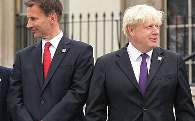 File photo dated 24/08/12 of the then Secretary of State for Culture, Olympics, Media and Sport Jeremy Hunt and the then Mayor of London Boris Johnson, who will go head to head in the Conservative party leadership race.