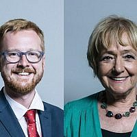 Lloyd Russell-Moyle, left, Dame Margaret Hodge, right