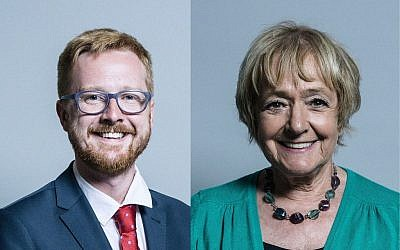 Lloyd Russell-Moyle, left, Dame Margaret Hodge, right