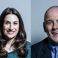 Luciana Berger, left, Robert Halfon, right