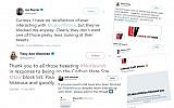 Twitter users shared screenshots showing how they were blocked, while others thanked non-Jewish Tweeters for standing in solidarity