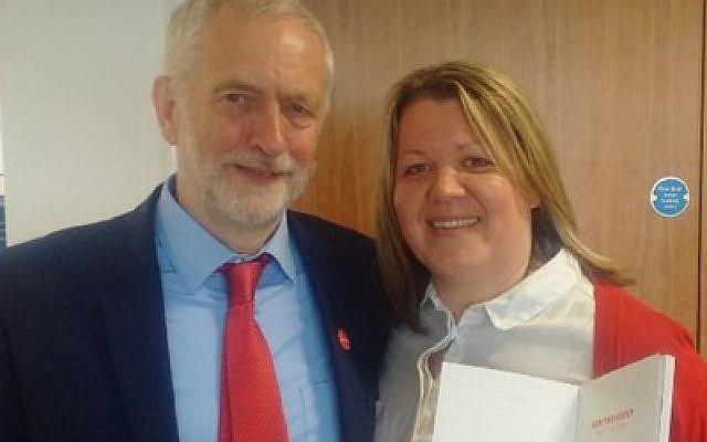 Lisa Forbes with Jeremy Corbyn
