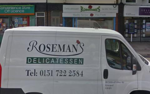 Roseman Delicatessen in Liverpool (Google Maps)