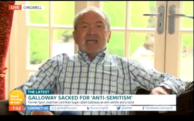 Lord Sugar on GMB calling George Galloway a 'bloody liar'