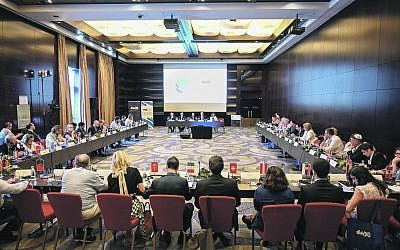 Twelve countries attended the combating antisemitism event