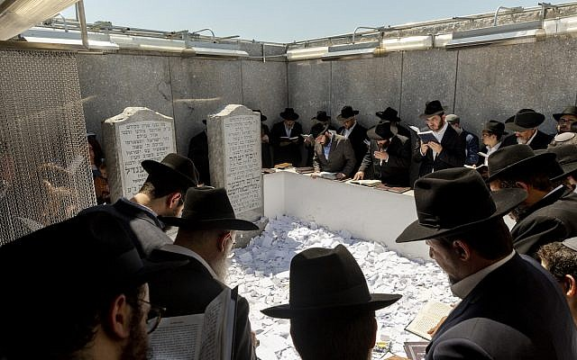 Thousands of Chabad Lubavitcher Jews, Hasidics, and visitors from around the world make the pilgrimage to the gravesite of the late Rebbe Menachem Mendel Schneerson for his 25th death anniversary.   Photographer: Mark Abramson/Chabad.org