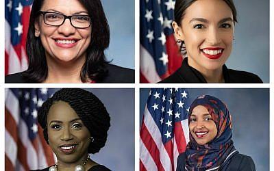 Rashida Tlaib,  Alexandria Ocasio-Cortez,  Ayanna Pressley and Ilhan Omar