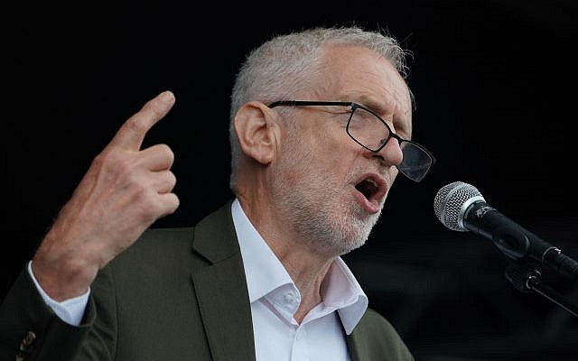 Labour leader Jeremy Corbyn makes a speech during the Durham Miners' Gala. Photo credit: Owen Humphreys/PA Wire